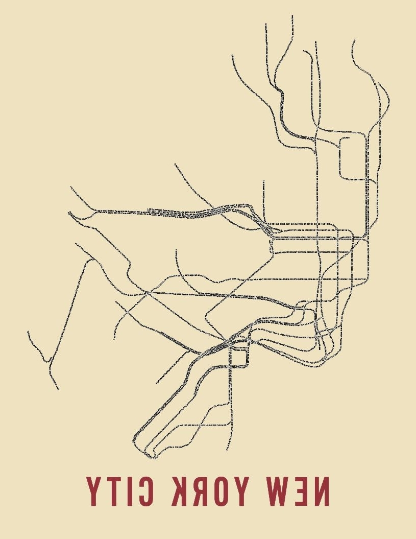 2018 Wanted: Typographic Transit Maps (View 2 of 15)