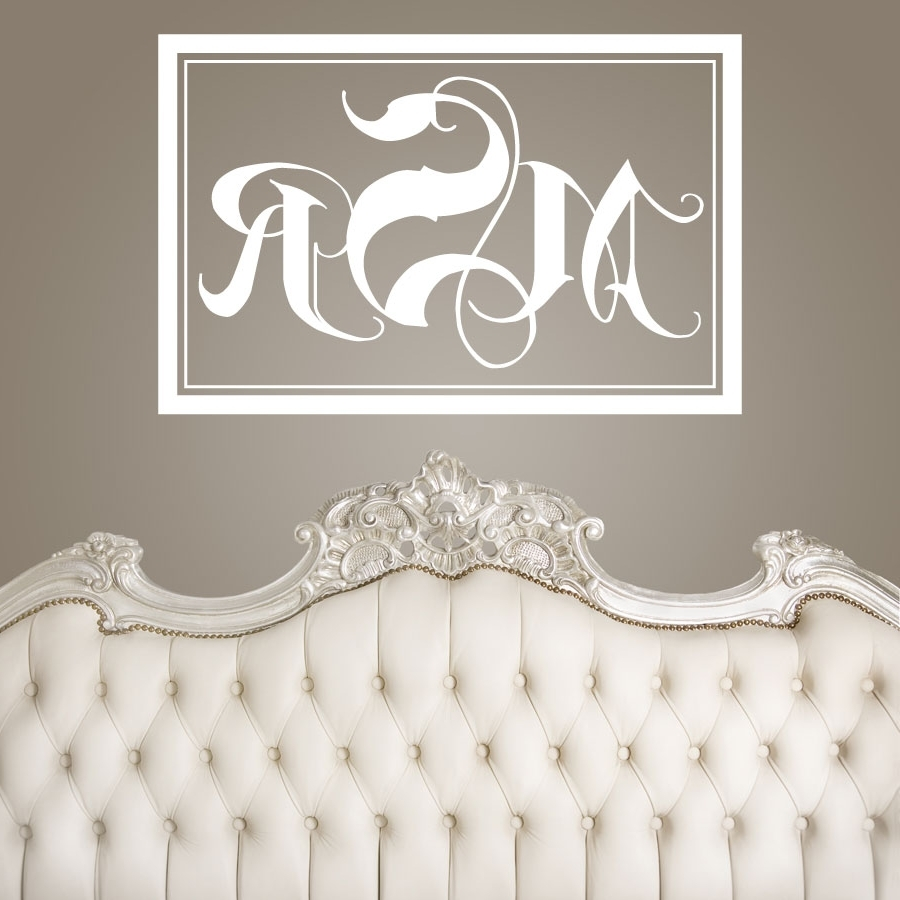 2018 Wedding Signs : Rectangle Monogram Wall Fabulous Monogrammed Wall Inside Monogram Wall Art (View 1 of 15)