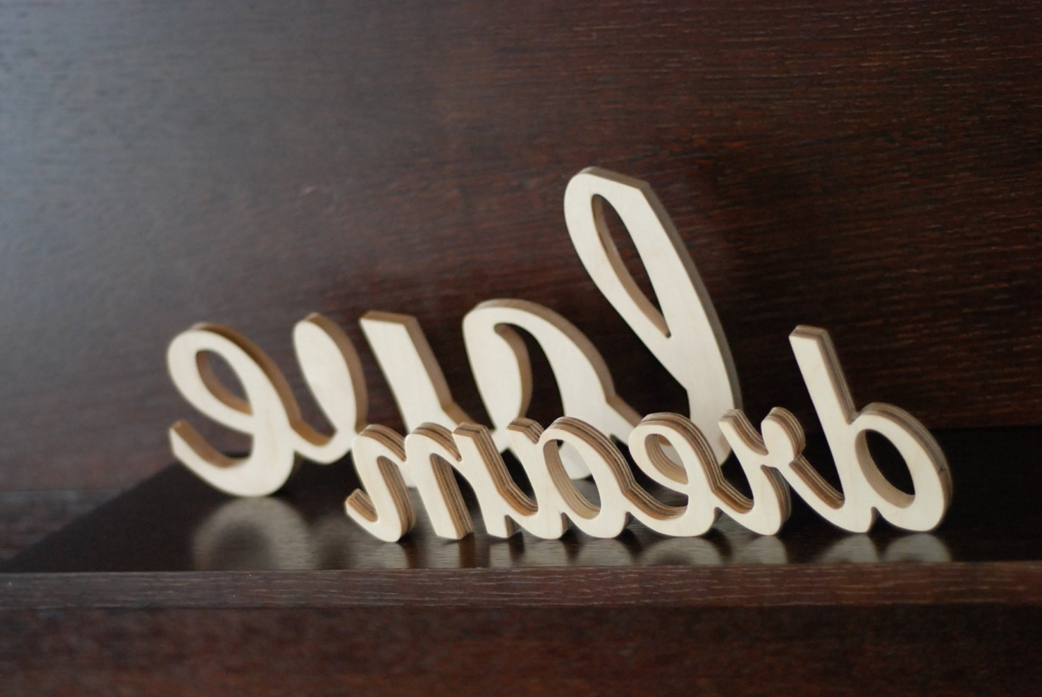 2018 Wood Word Wall Art Throughout Custom Made Word Sign Wooden Wall Decor Wedding Home Dma Homes (View 9 of 15)