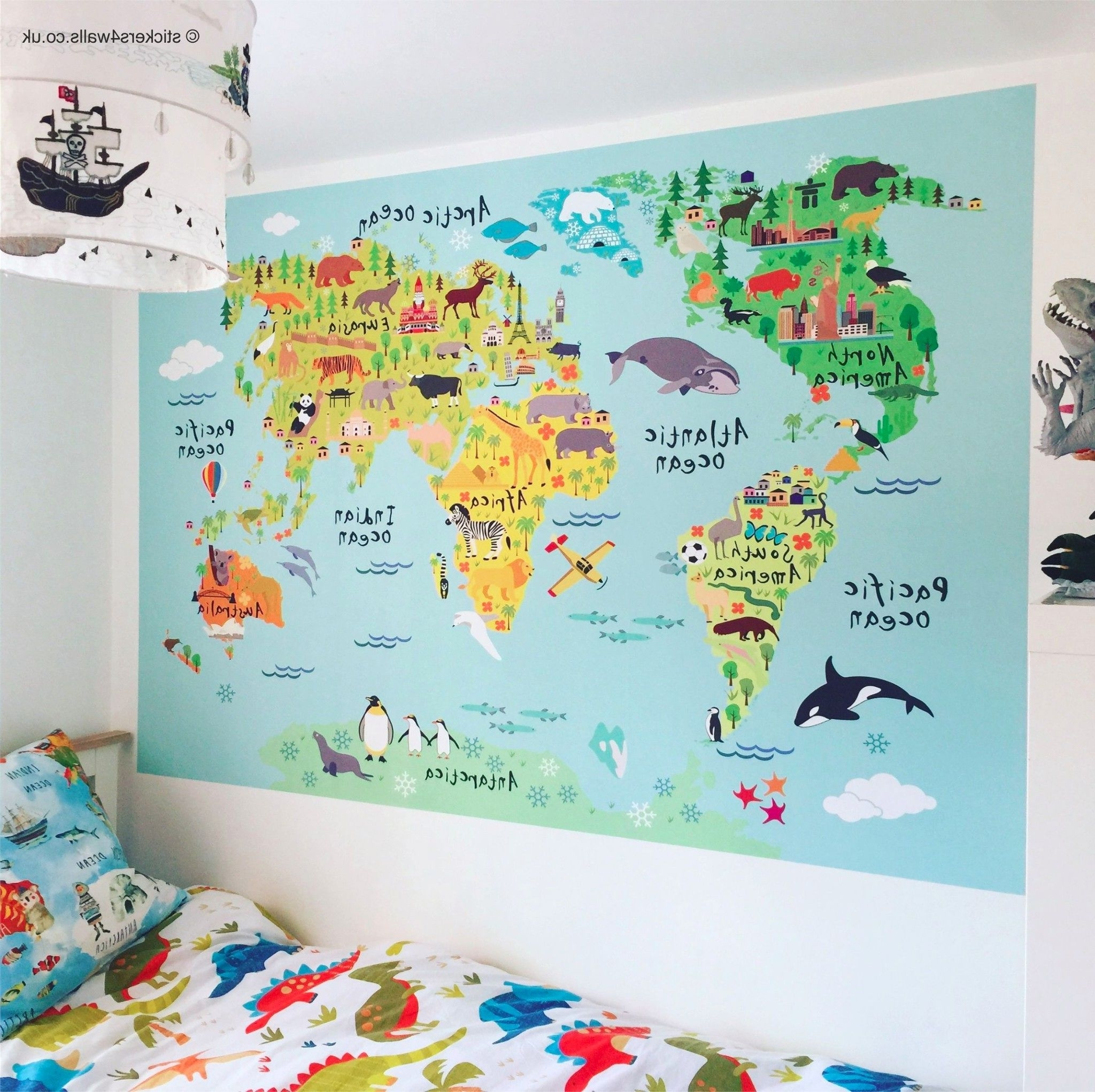 2018 World Map Wall Art For Kids Within Bunch Ideas Of Jumbo World Map Decal With World Map Wall Stickers (View 11 of 15)