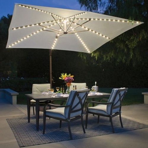220 Best Pool Images On Pinterest Solar Powered Patio Umbrella Pertaining To Favorite Solar Powered Patio Umbrellas (View 10 of 15)