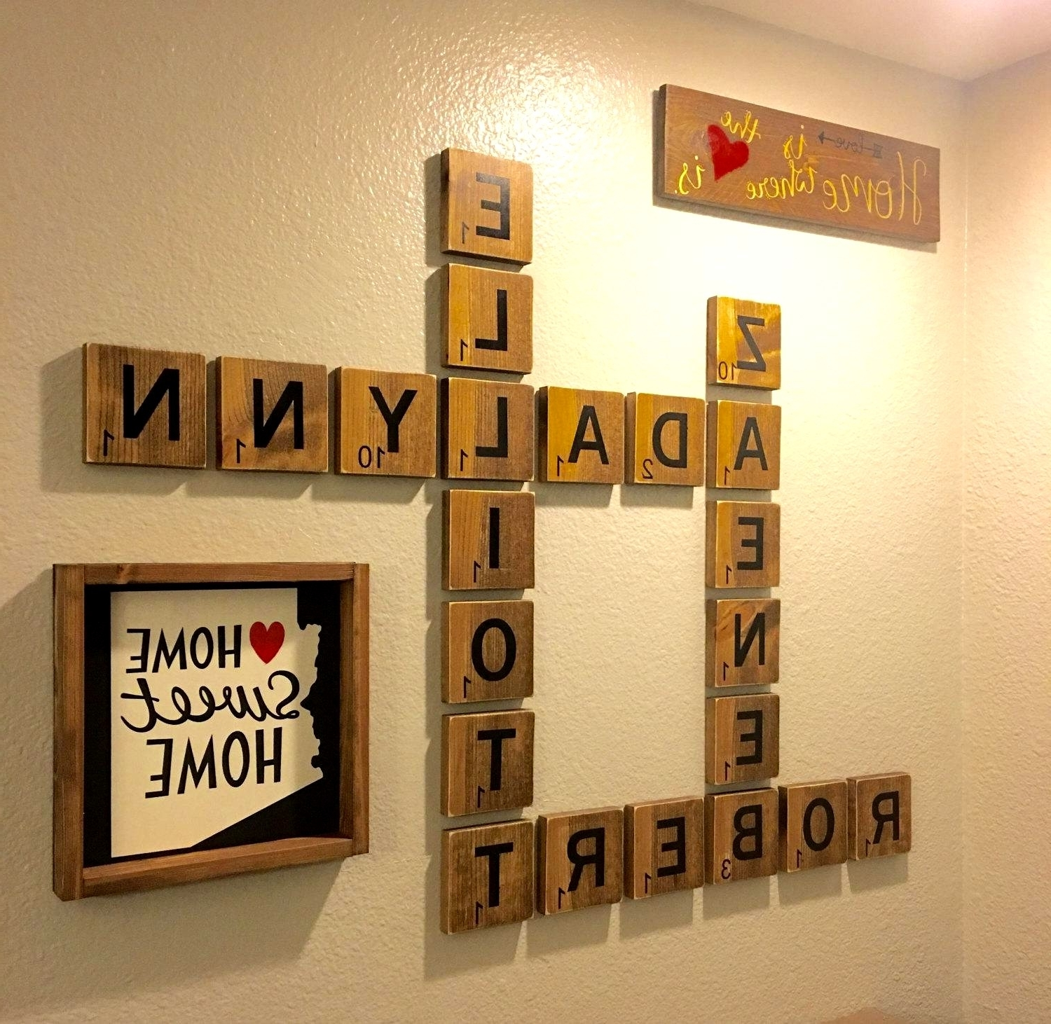 25 Layout Scrabble Tiles Wall Art With Well Liked Scrabble Wall Art (View 1 of 15)