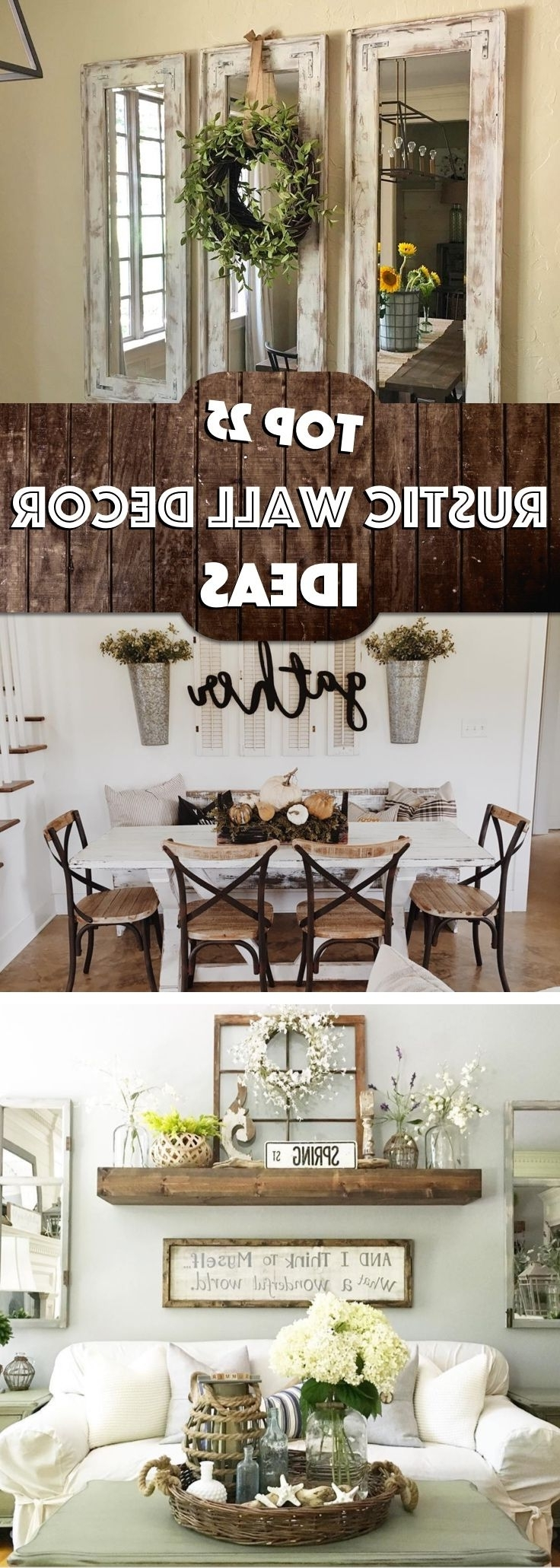 25 Must Try Rustic Wall Decor Ideas Featuring The Most Amazing Inside Well Known Wall Art Ideas For Living Room (View 1 of 15)