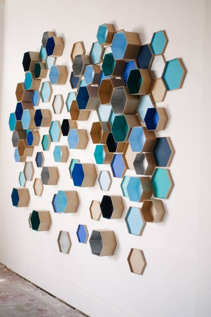 3 D Wall Art Perfect 20 Photos Diy 3D Decor – Mycraftingbox Regarding Fashionable 3 Dimensional Wall Art (View 3 of 15)