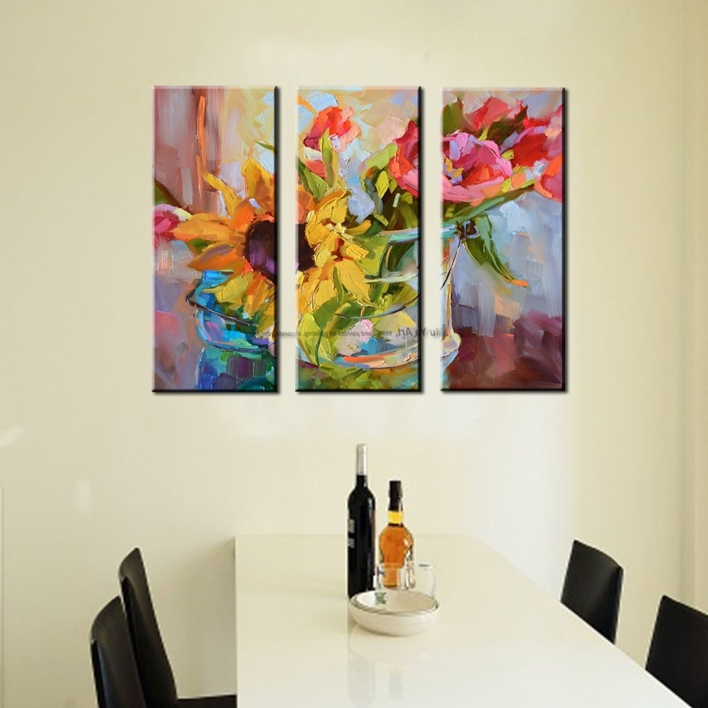3 Piece Abstract Modern Canvas Wall Art Decorative Acrylic Painting Pertaining To Well Known Modern Canvas Wall Art (View 2 of 15)