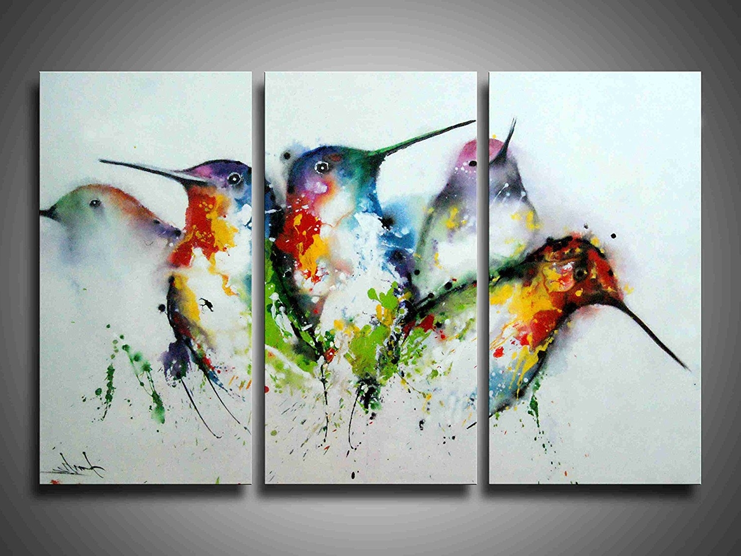 3 Piece Framed Wall Art Bird : Andrews Living Arts – Affordable 3 For Famous Bird Framed Canvas Wall Art (View 4 of 15)