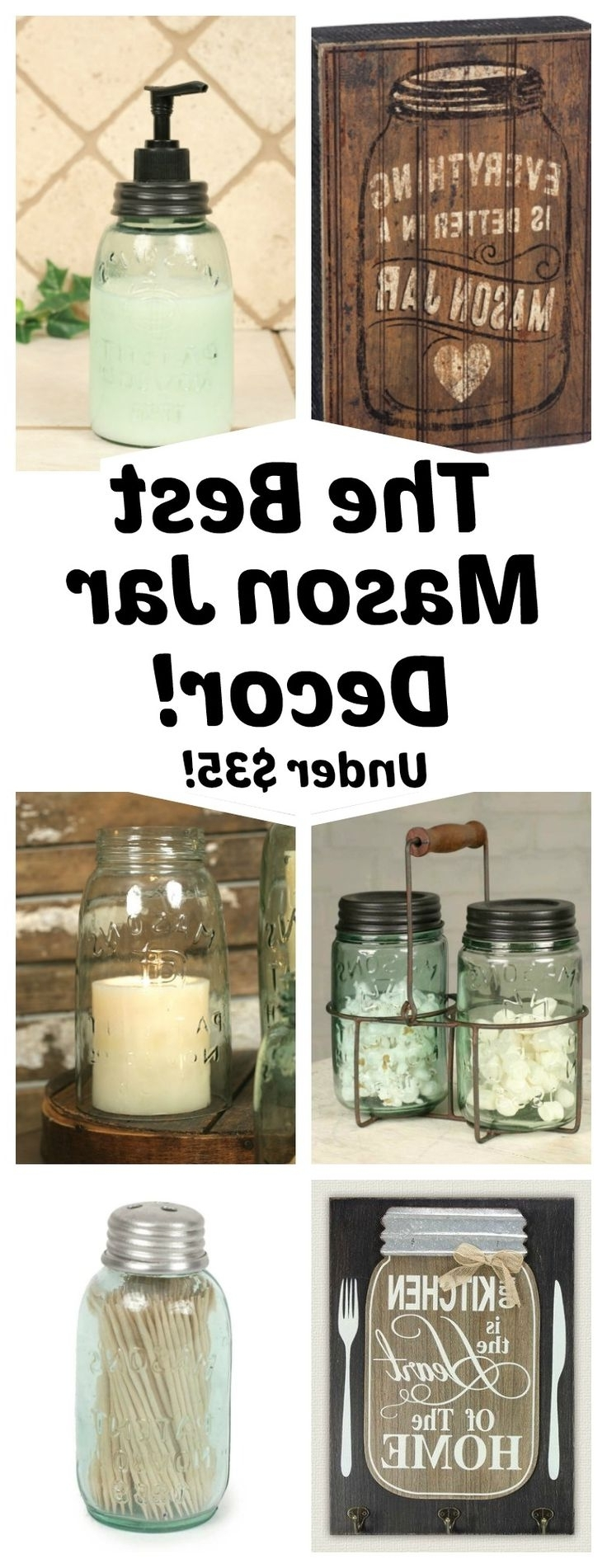39 Mason Jar Wall Art, Pallet Home Decor Projects Pallets Furniture intended for Current Mason Jar Wall Art