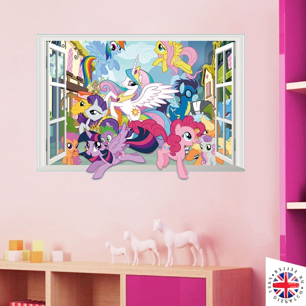 3D My Little Pony Wall Sticker Decal Bedroom Kids Girls Vinyl Art regarding Current My Little Pony Wall Art