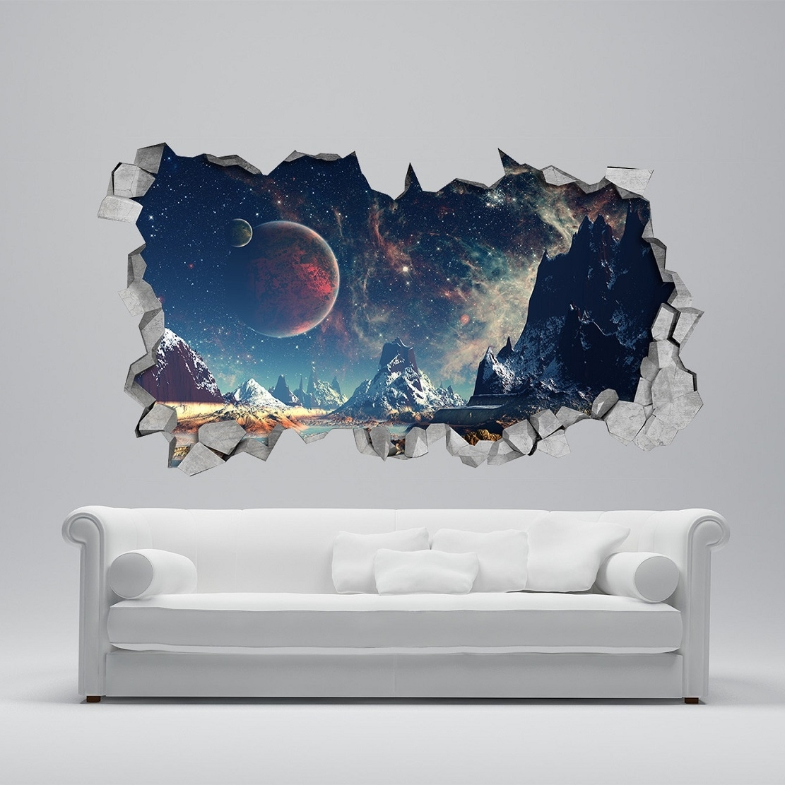 3D Wall Art inside Most Popular 25 Unparalleled 3D Wall Art For Charming Home