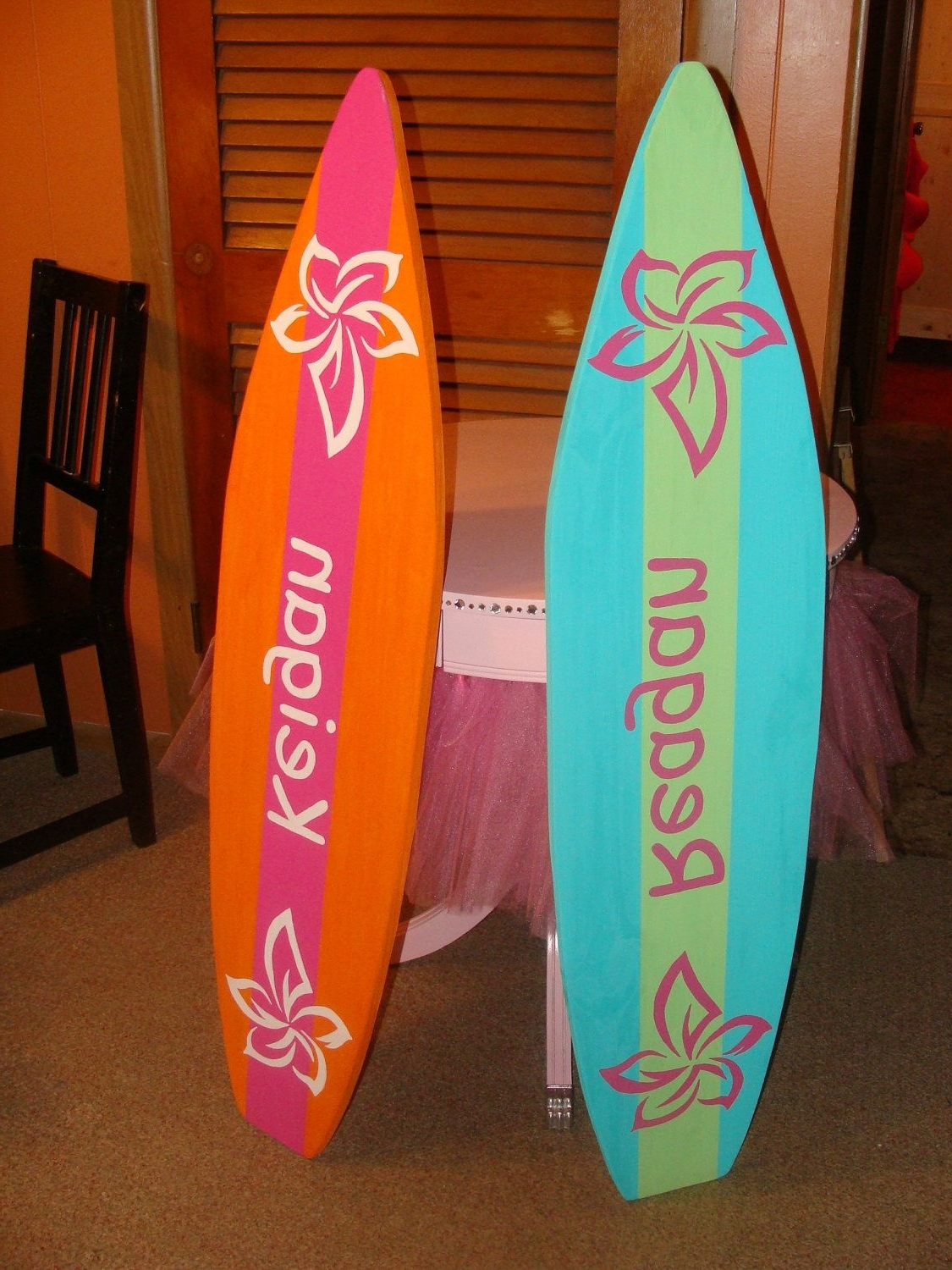 4 Foot Surfboard Wall Art, Beach Decor Wall Hanging (Will Throughout Most Current Surfboard Wall Art (View 2 of 15)