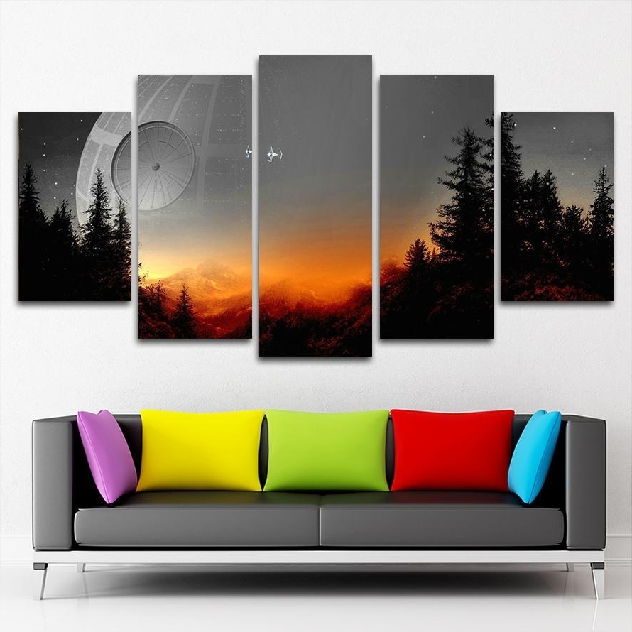 5 Panel Wall Art Canvas Prints with regard to Panel Wall Art
