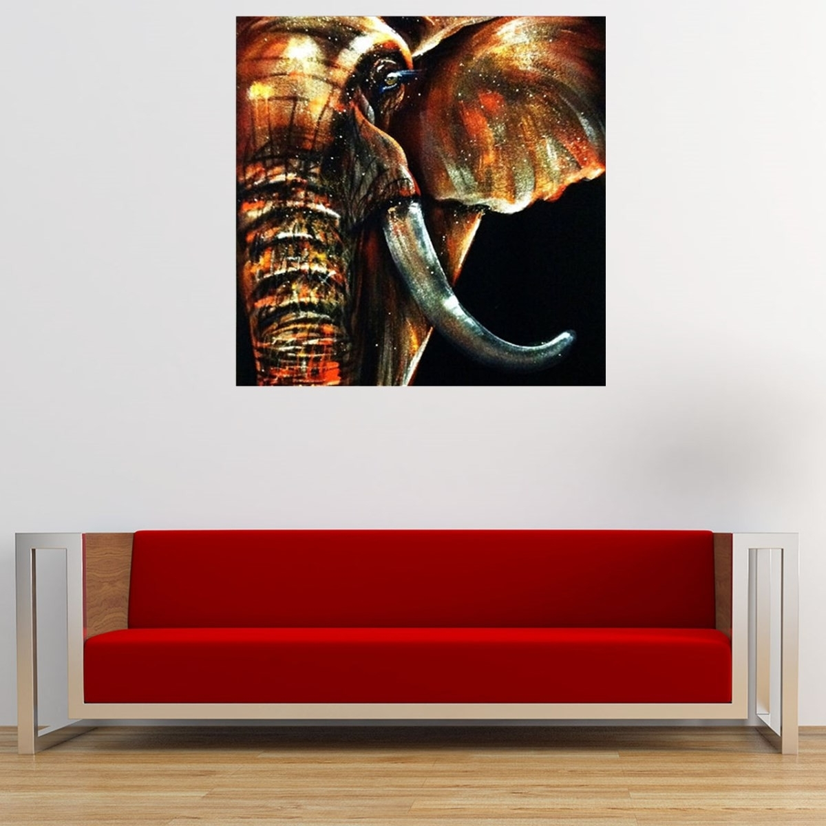 50X50Cm Modern Abstract Huge Elephant Wall Art Decor Oil Painting On Regarding Recent Elephant Wall Art (View 2 of 15)