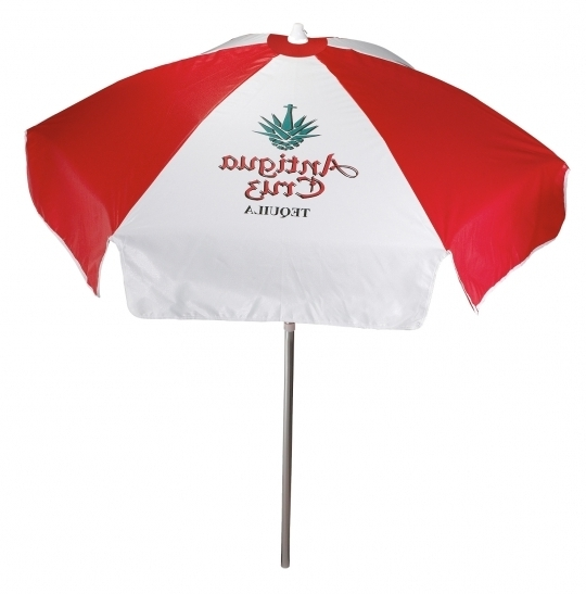 6.5' Vinyl Patio Cafe Umbrella 6 Panel Iv In Patio Umbrellas From For Preferred Vinyl Patio Umbrellas (Gallery 12 of 15)
