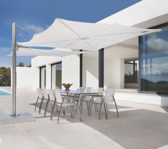 7 Most Expensive Patio Umbrellas In 2017 – Cute Furniture Within Widely Used Square Cantilever Patio Umbrellas (View 3 of 15)