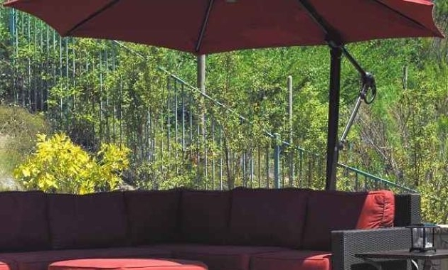 7 Offset Patio Umbrella Lowes To Decor Your Outdoor Space For Well Liked Lowes Offset Patio Umbrellas (View 4 of 15)