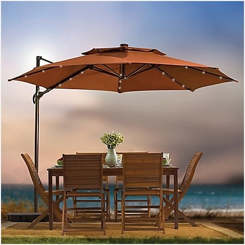9 Ft Patio Umbrella With Solar Lights » Best Of 11 Foot Round Solar throughout Latest 9 Ft Patio Umbrellas
