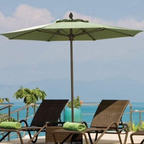 9 Ft Patio Umbrellas for Best and Newest 9 Foot Abaco Fiberglass Market Umbrella