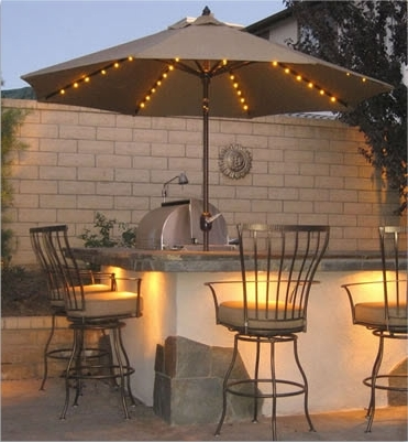 9' Led Lighted Patio Umbrella – Add A Festive Mood To Any Occasion Regarding Most Current Lighted Umbrellas For Patio (Gallery 1 of 15)