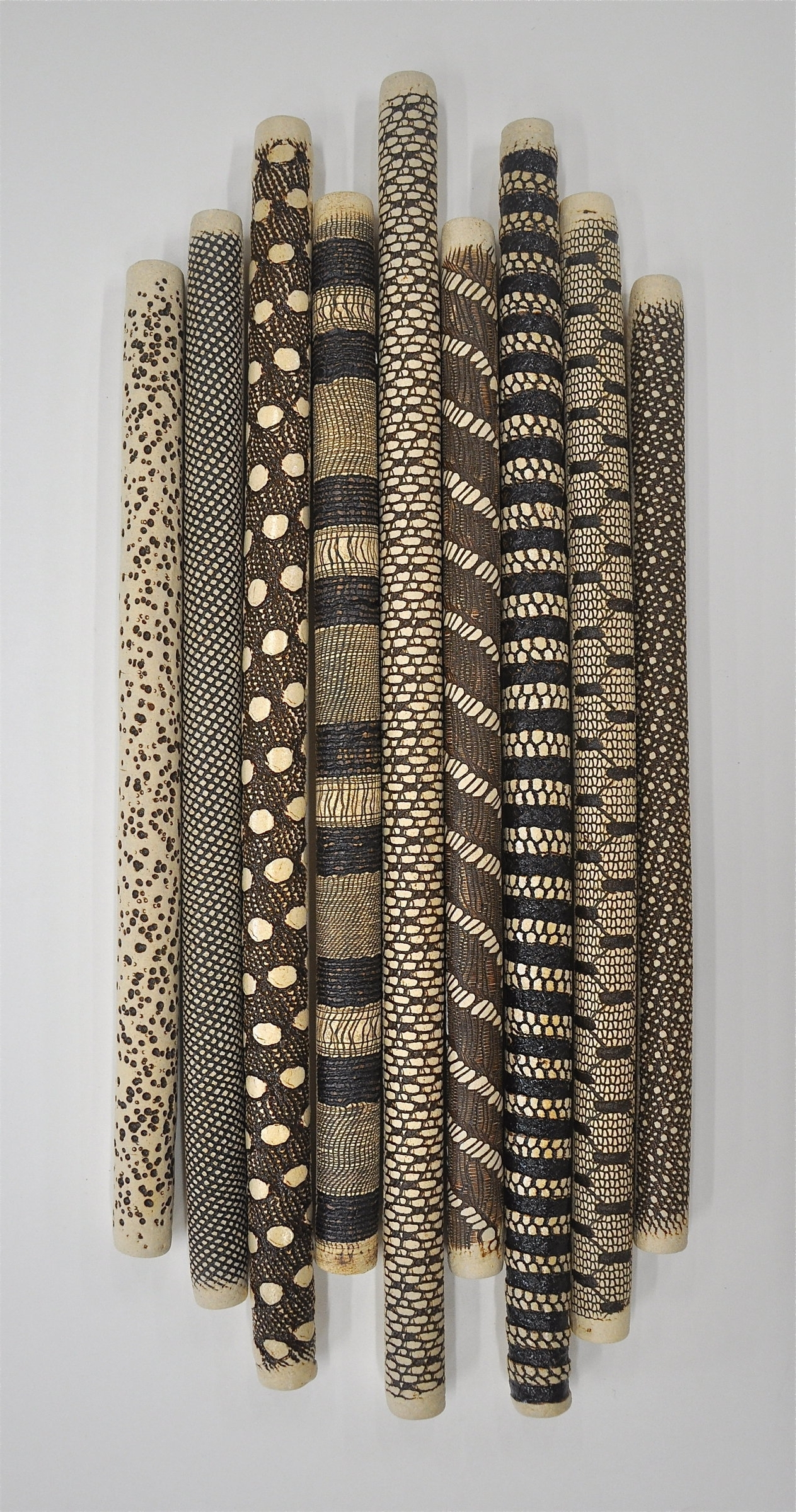 9 Piece Installationkelly Jean Ohl (Ceramic Wall Sculpture In 2018 Ceramic Wall Art (View 1 of 15)
