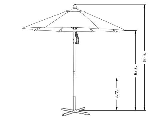 9' Sunbrella Aluminum Commercial Patio Umbrella Regarding Fashionable Commercial Patio Umbrellas Sunbrella (View 3 of 15)