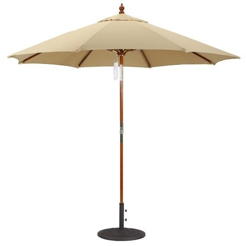 9' Wood Market Umbrellas