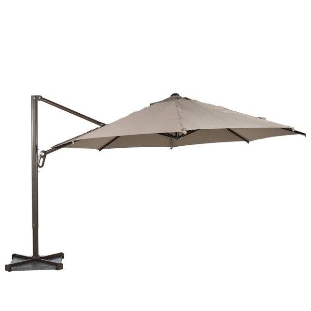 Abba Patio 11 Ft Octagon Cantilever Vented Tilt & Crank Lift Patio With Regard To Favorite Vented Patio Umbrellas (View 3 of 15)