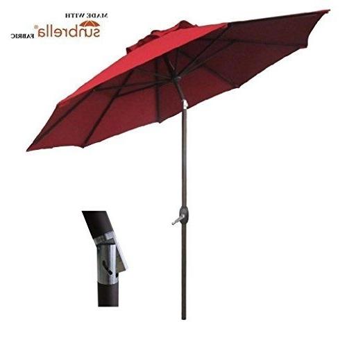 Abba Patio 9 Ft Fade Resistant Sunbrella Fabric Patio Umbrella With For 2018 Patio Umbrellas With Sunbrella Fabric (View 6 of 15)