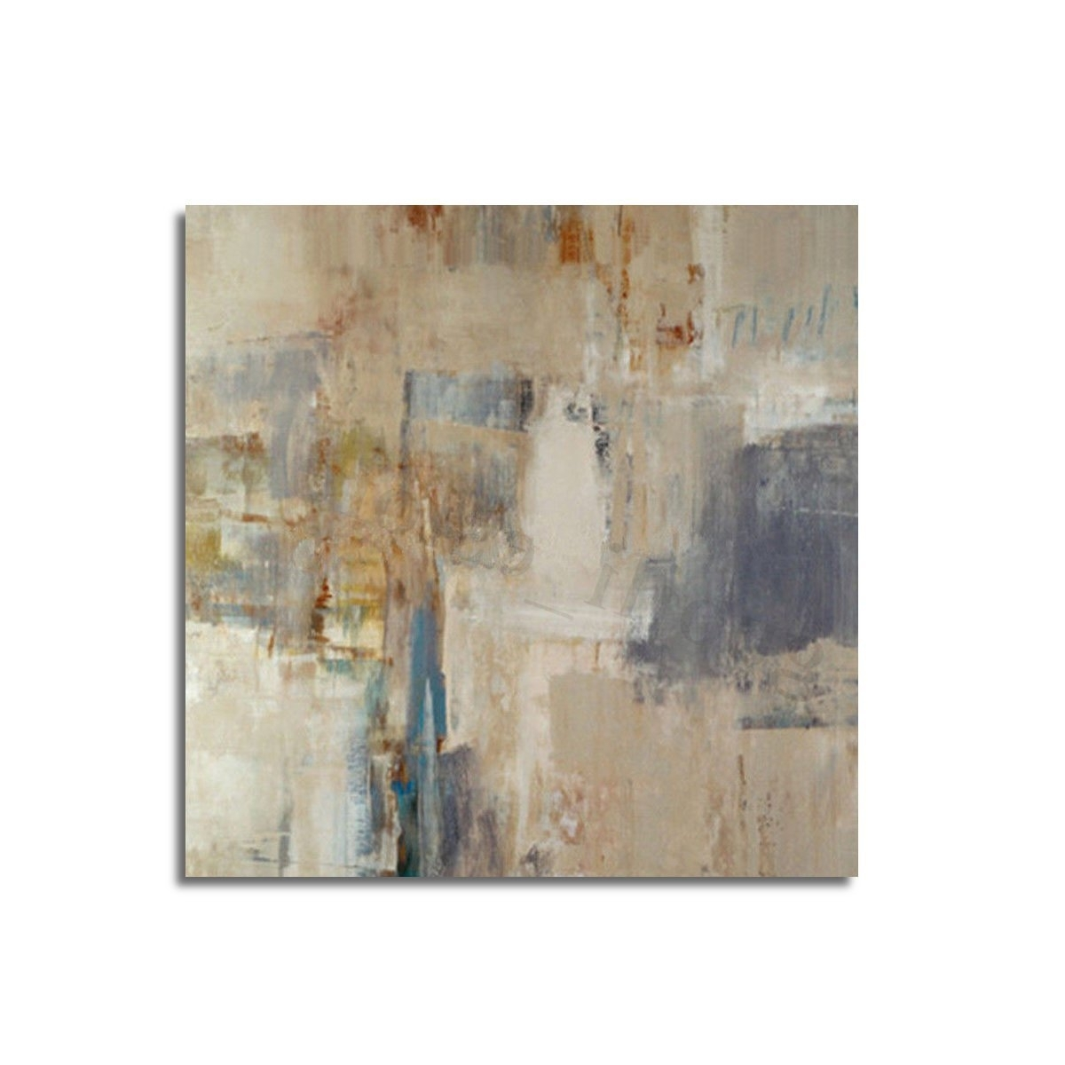 Abstract Oil Painting Wall Art Inside Most Popular 24X24'' Modern Abstract Oil Painting Canvas Wall Art Printed (View 10 of 15)