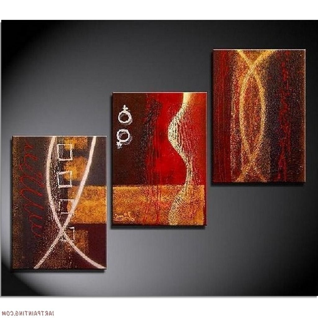 Abstract Paintings 3Pcs Canvas Set Modern Pertaining To Modern Painting Canvas Wall Art (View 5 of 15)