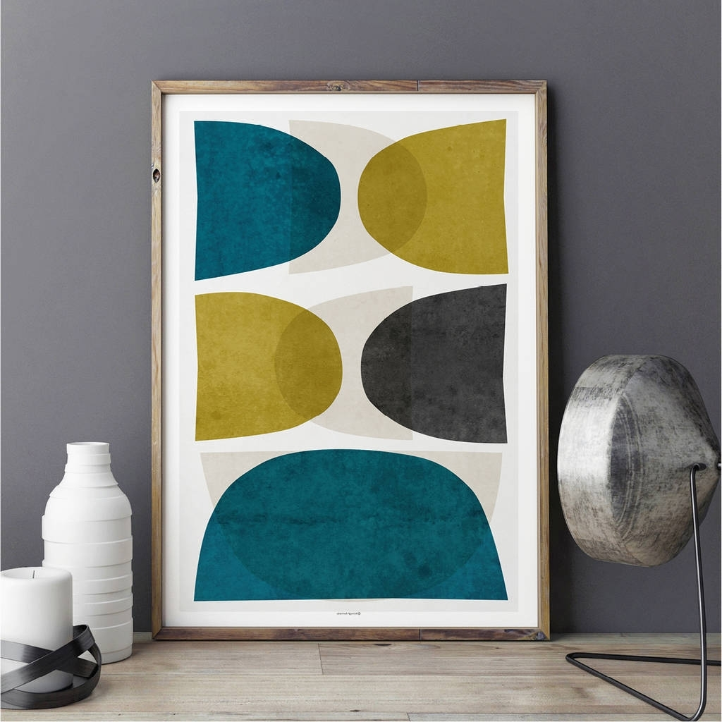 Abstract Wall Art Print Teal Wall Artbronagh Kennedy – Art Throughout Well Known Teal Wall Art (View 11 of 15)