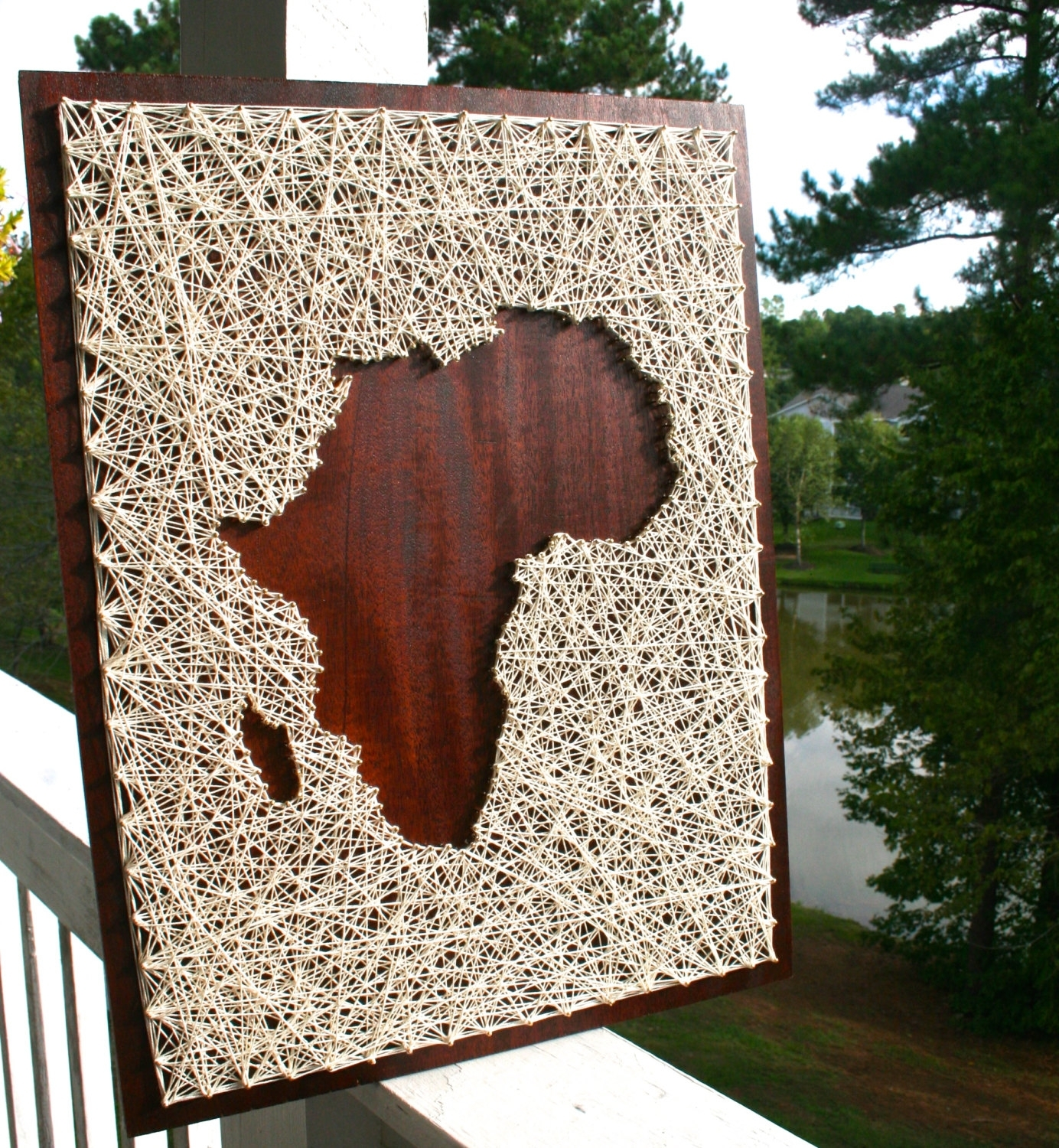 Africa String Art Africa Art Map Of Africa Map String, African Wall In Most Up To Date String Map Wall Art (View 7 of 15)