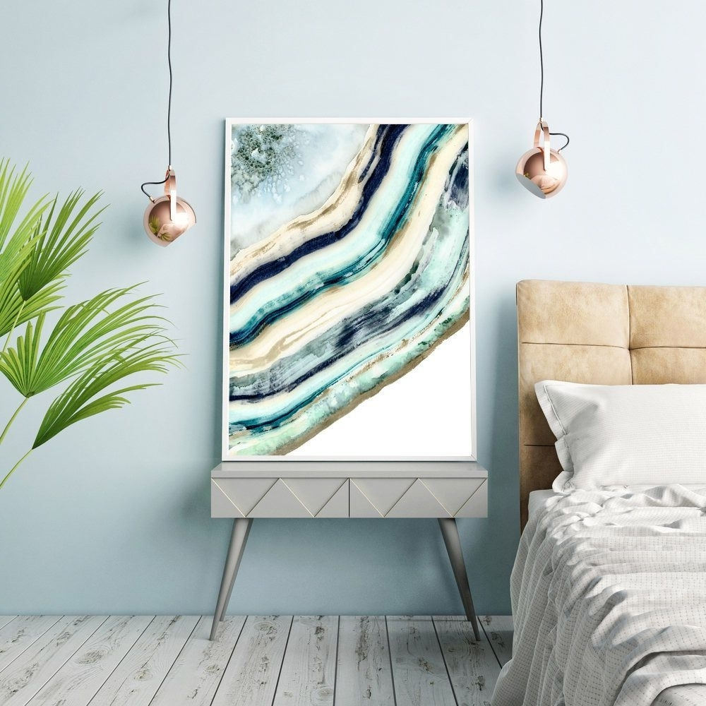 Agate Wall Art Regarding Preferred Agate Print, Watercolor Agate, Painting, Agate Wall Art, Geode Wall (View 15 of 15)