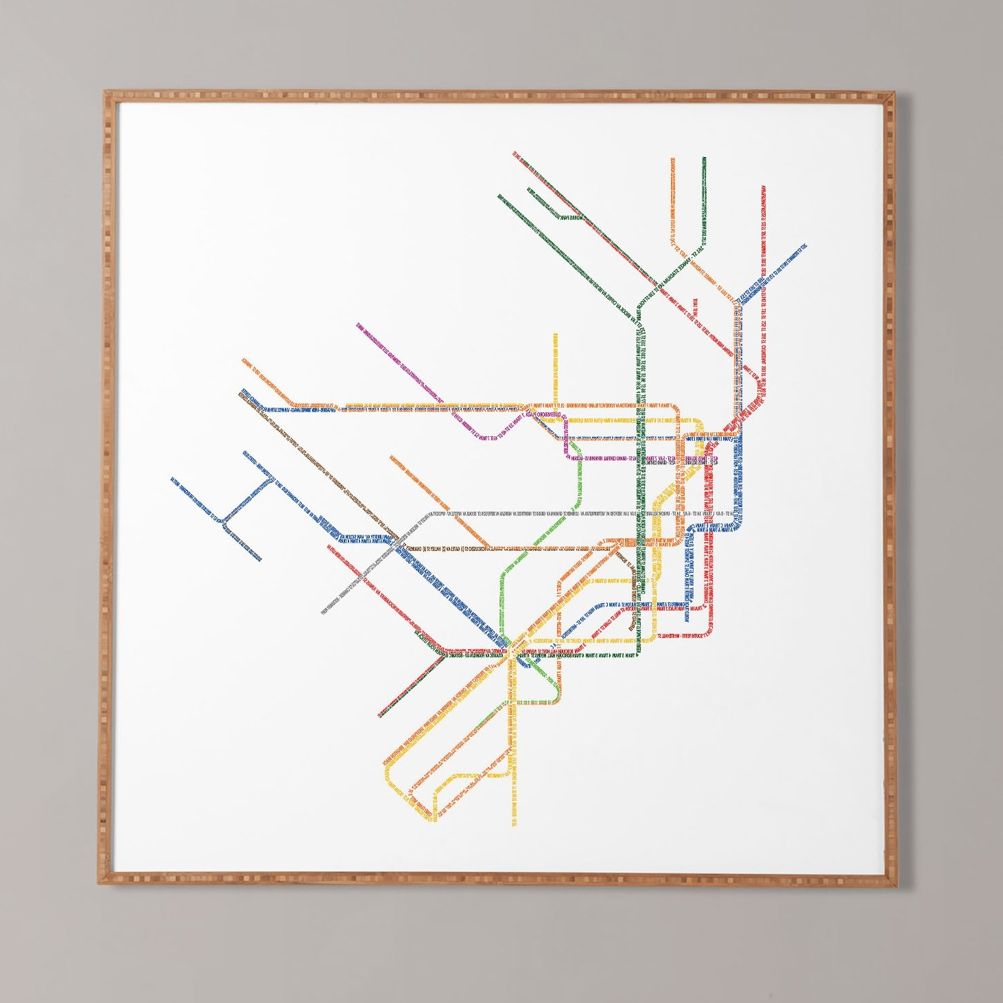 Allmodern Throughout 2017 Nyc Subway Map Wall Art (View 2 of 15)