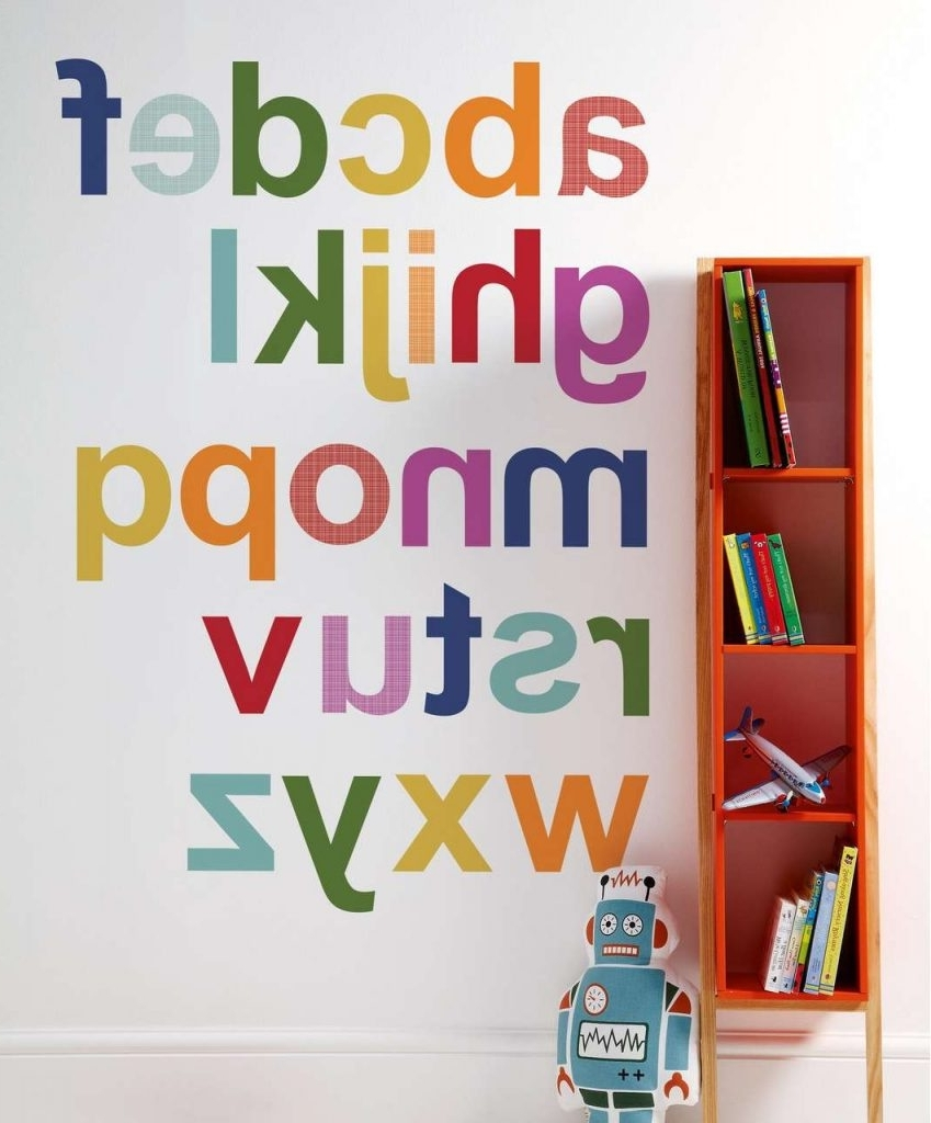 Alphabet Wall Art – Culturehoop Within Current Alphabet Wall Art (View 4 of 15)