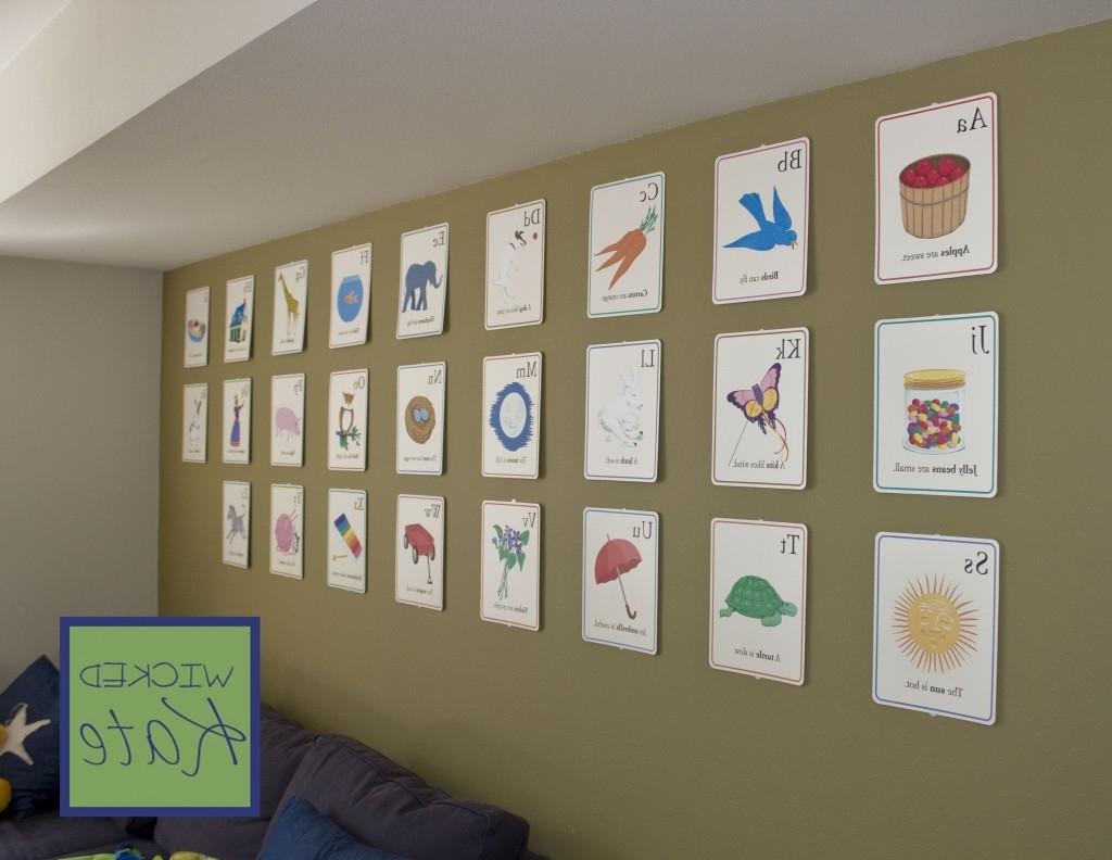 Alphabet Wall Art For Latest Wall Decor Playroom Maribo Co – Pelikansurf (View 15 of 15)