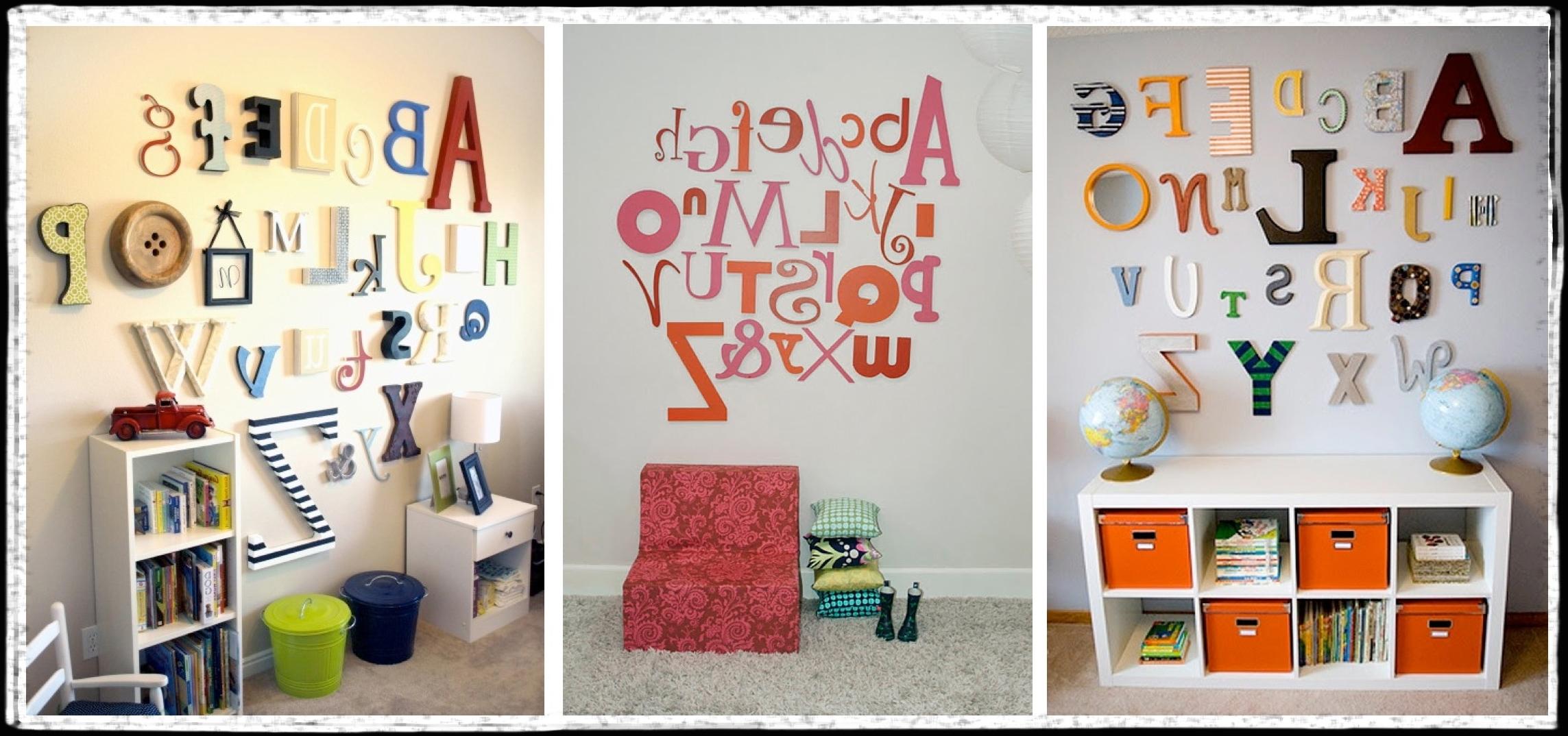 Alphabet Wall Art – Unavocecr Throughout Recent Alphabet Wall Art (View 6 of 15)