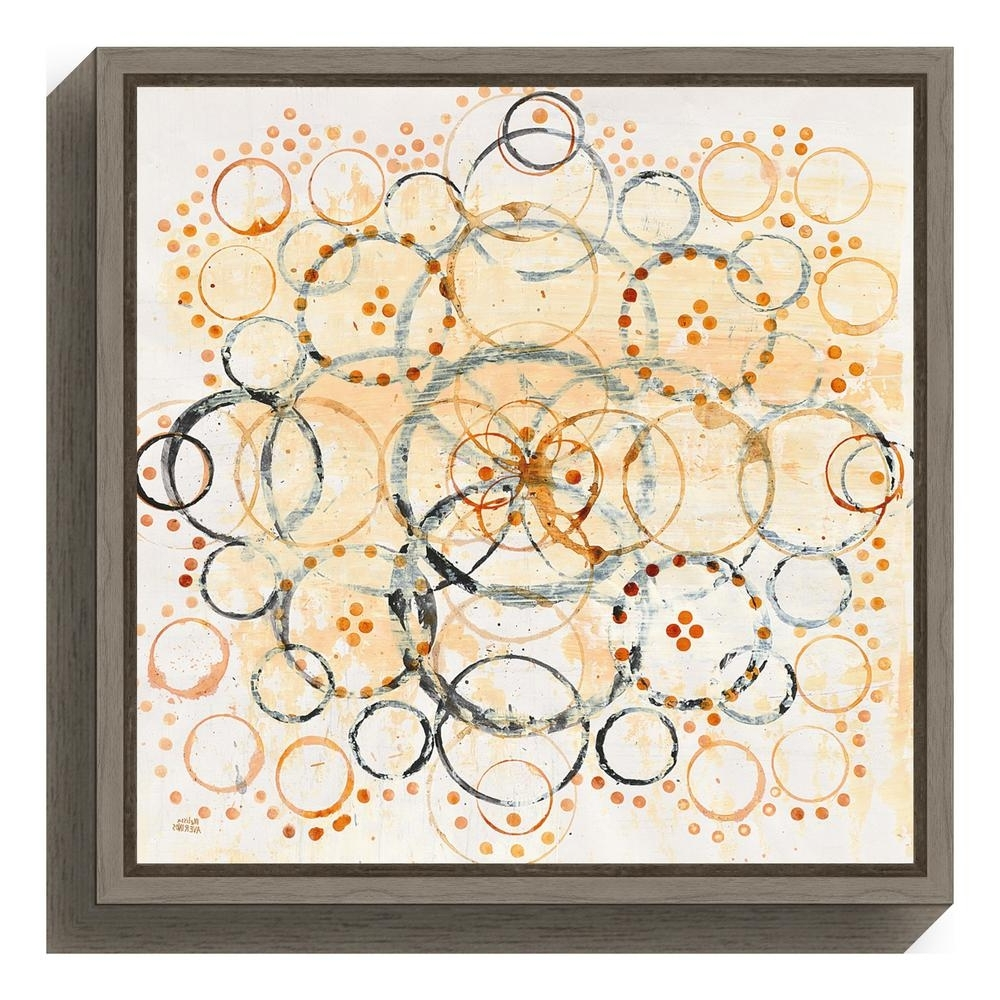 "Amanti Art ""henna Mandala Ii Crop""melissa Averinos Framed Canvas With Regard To Most Popular Henna Wall Art (View 14 of 15)"
