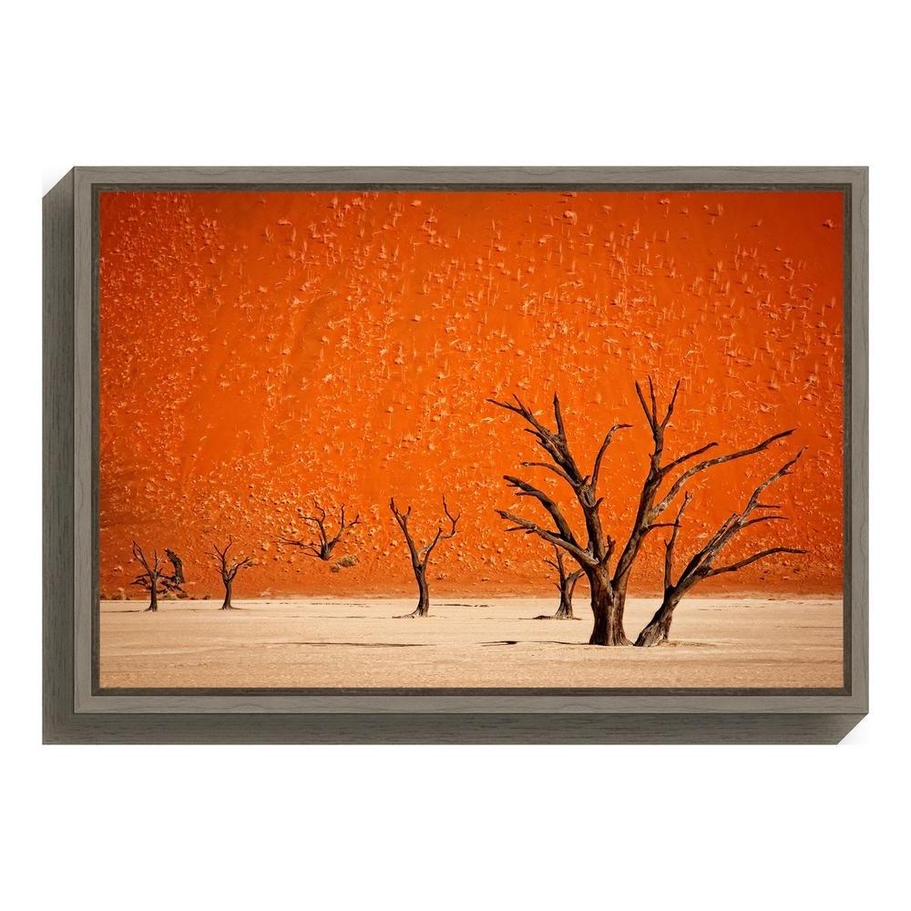 "Amanti Art ""the Older""mathilde Guillemot Framed Canvas Wall Art With Famous Orange Wall Art (View 4 of 15)"