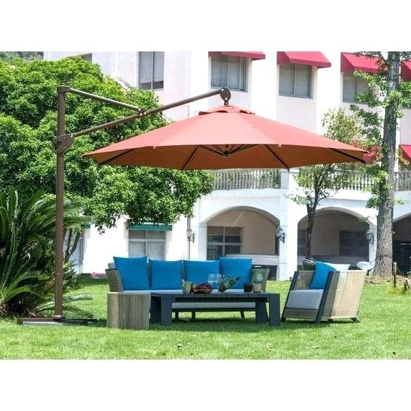 Amazing 11 Ft Offset Patio Umbrella And Coral Coast Ft Offset In Most Up To Date Coral Coast Offset Patio Umbrellas (View 14 of 15)