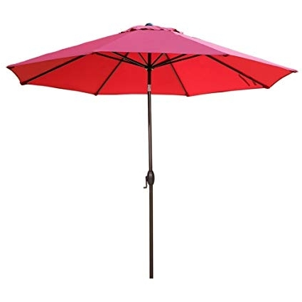 Amazon : Abba Patio 11 Feet Patio Umbrella Outdoor Table With Most Up To Date Red Patio Umbrellas (View 10 of 15)