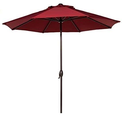 Featured Photo of Red Sunbrella Patio Umbrellas