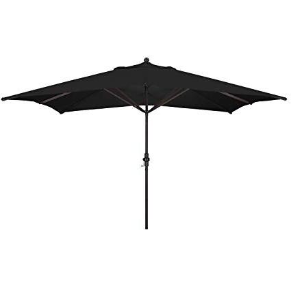 Amazon : California Umbrella 11' X 8' Rectangle Aluminum Market Throughout Preferred Rectangular Sunbrella Patio Umbrellas (View 8 of 15)