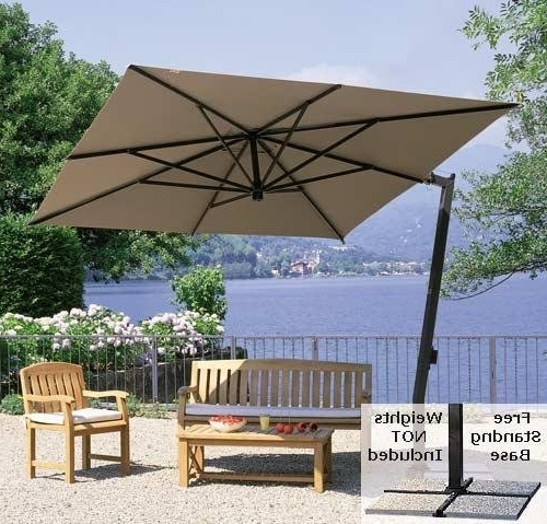 Amazon : Cantilevered Square Canopy Patio Umbrella (Market Style Throughout Newest Square Cantilever Patio Umbrellas (View 2 of 15)