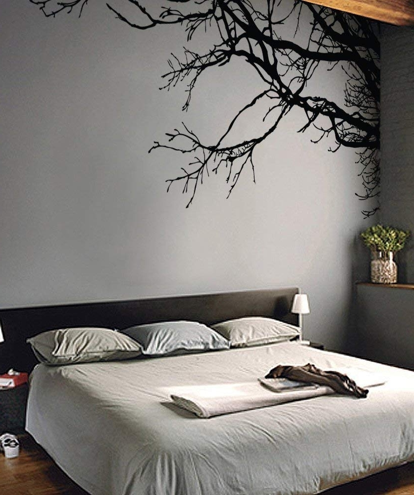 Amazon: Large Tree Wall Decal Sticker – Semi Gloss Black Tree Intended For Well Known Wall Sticker Art (View 2 of 15)