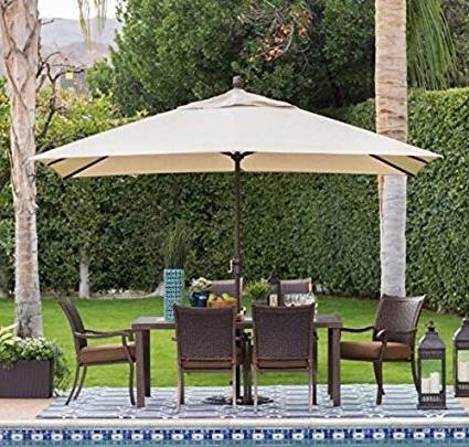 Amazon : Offset Patio Umbrella, Large Outdoor Umbrella, Sun Regarding Most Current Rectangular Offset Patio Umbrellas (View 15 of 15)