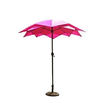 Amazon : Patio Umbrella / Outdoor Patio Umbrellas, Pink Lotus Inside Trendy Pink Patio Umbrellas (View 15 of 15)