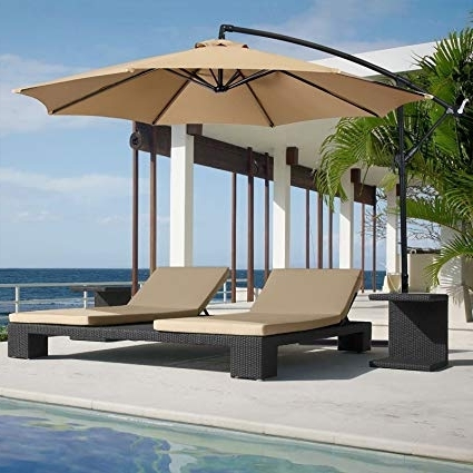 Amazon Patio Umbrellas Intended For Well Liked Amazon : Best Choice Products Patio Umbrella Offset 10' Hanging (View 4 of 15)