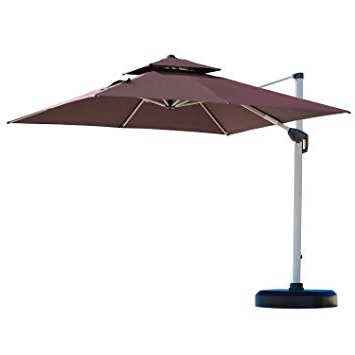 Amazon : Purple Leaf 10 Feet Double Top Deluxe Square Patio In Widely Used Deluxe Patio Umbrellas (View 14 of 15)