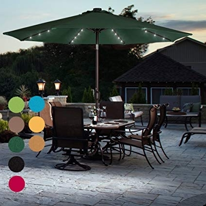 Amazon : Sundale Outdoor Solar Powered 32 Led Lighted Patio Inside Well Known Amazon Patio Umbrellas (View 11 of 15)