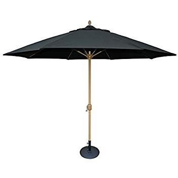 Amazon : Tropishade 11' Sunbrella Patio Umbrella With Black Pertaining To Most Recently Released Sunbrella Black Patio Umbrellas (View 3 of 15)
